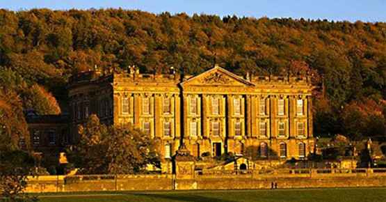 Picture of Chatsworth house bathed in the evening sun