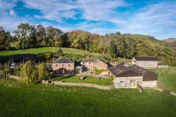 Aerial View of Mellor Knowl farm and Otter's Retreat