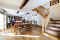Oak stairs from dining area